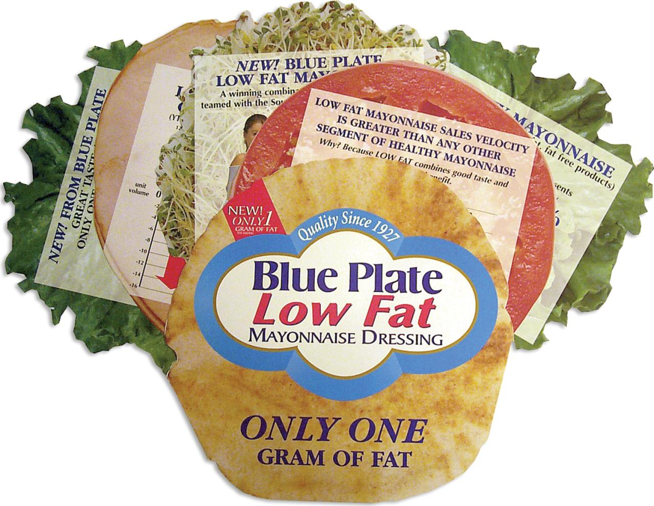 Blue plate sandwich